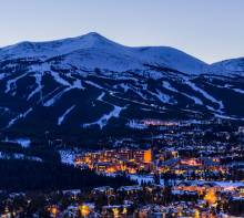 breckenridge in the evening