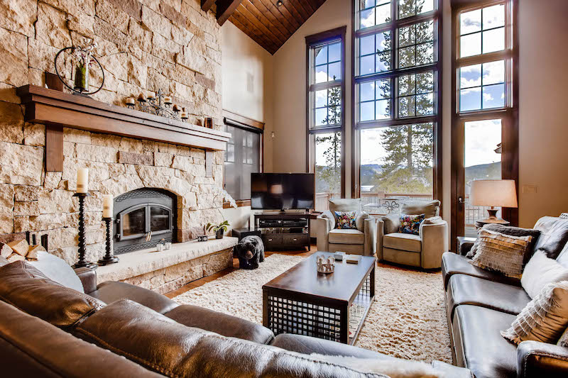 A living room of a Breckenridge vacation rental