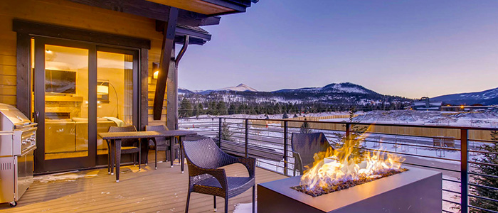 On the Corner at the Shores Fire Pit | Breckenridge Vacation Rental