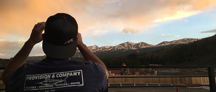 Taking a Picture of the View in Breck | On the Corner at the Shores